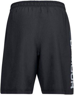 Under Armour Woven Wordmark Mens Shorts Black/Zinc Gray L