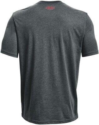 Under Armour Sportstyle Logo Mens Short Sleeve Pitch Gray Medium Heather/Beta L