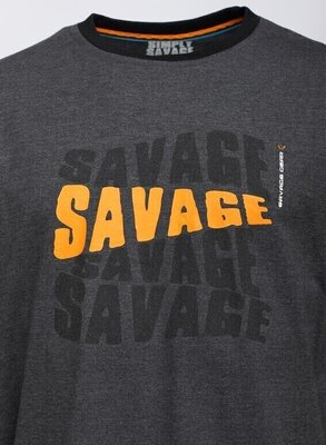 Savage Gear Horgászpóló Simply Savage Logo Tee