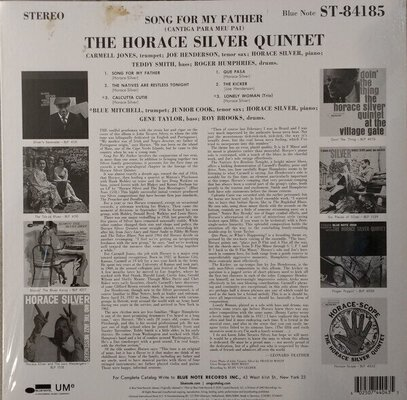 Horace Silver Song For My Father (LP) Stereo