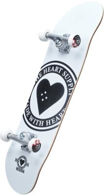 Heart Supply Logo Skateboard Complete 8,25'' Badge/White