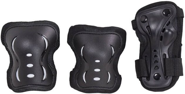 HangUp Scooters Kids Skate Pads Set M 3 Piece Black