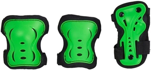 HangUp Scooters Kids Skate Pads Set M 3 Piece Green