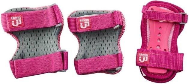 HangUp Scooters Kids Skate Pads Set M 3 Piece Pink