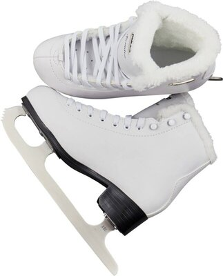 Roces Paradise Eco-Fur Figure Skates White 38