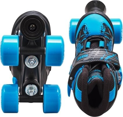 Roces Quaddy 3.0 Adjustable Roller Skates Black/Astro Blue 30-33