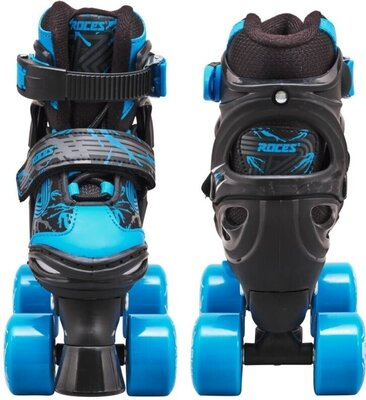 Roces Quaddy 3.0 Adjustable Roller Skates Black/Astro Blue 34-37