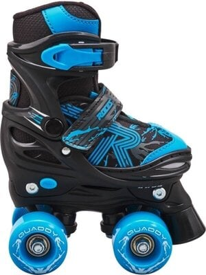 Roces Quaddy 3.0 Adjustable Roller Skates Black/Astro Blue 38-41