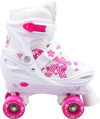 Roces Quaddy 3.0 Adjustable Roller Skates White/Pink 30-33
