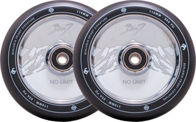 Striker Benj No Limit 110mm Wheel Set Black/Chrome