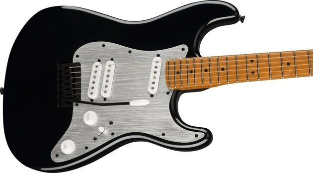 Fender Squier Contemporary Stratocaster Special Roasted MN Silver Anodized Pickguard Black