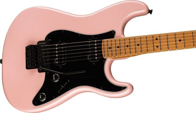 Fender Squier Contemporary Stratocaster HH FR Roasted MN Black Pickguard Shell Pink Pearl