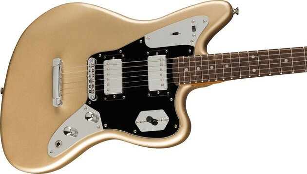 Fender Squier Contemporary Jaguar HH ST LRL Black Pickguard Shoreline Gold