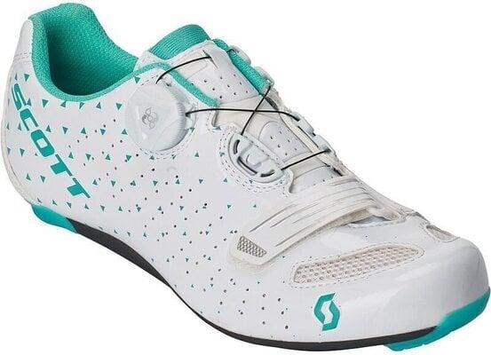 Scott Road Comp BOA Lady Gloss White/Turquoise Blue 40