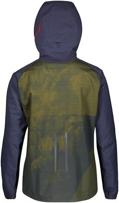 Scott Men's Trail Storm WP Jacket Blue Nights/Wine Red XXL