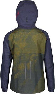 Scott Men's Trail Storm WP Jacket Blue Nights/Wine Red XXL