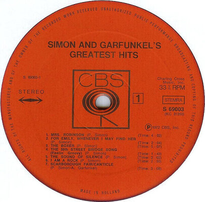 Simon & Garfunkel Greatest Hits (White Coloured) (Vinyl LP)