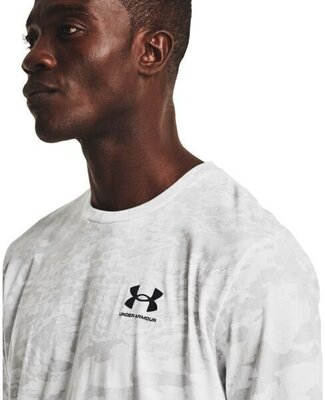 Under Armour ABC Camo Mens Short Sleeve White/Mod Gray M