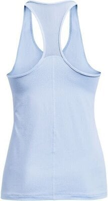 Under Armour HG Armour Racer Tank Womens Isotope Blue/Metallic Silver S