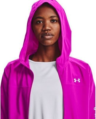 Under Armour Woven Hooded Jacket Womens Meteor Pink/White M
