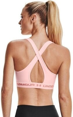 Under Armour Crossback Mid Womens Bra Beta Tint/Beta Tint/Stardust Pink S