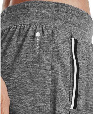 Under Armour Recover Sleep Womens Shorts Black Fade Heather/Metallic Silver S