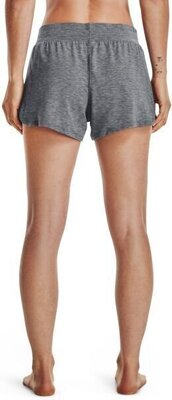 Under Armour Recover Sleep Womens Shorts Black Fade Heather/Metallic Silver L