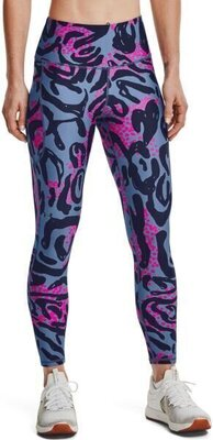 Under Armour HG Armour Print 7/8 Womens Leggings Mineral Blue/Midnight Navy XL