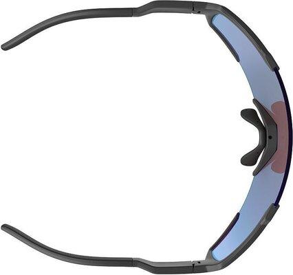 Scott Shield Black Matt/Blue Chrome