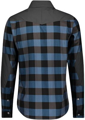 Scott Men's Trail Flow Check L/SL Atlantic Blue/Dark Grey XL
