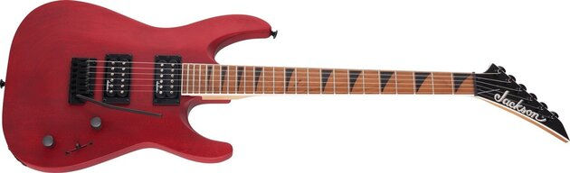 Jackson JS Series Dinky Arch Top JS24 DKAM Caramelized MN Red Satin