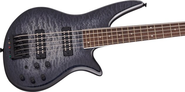 Jackson X Series Spectra Bass SBXQ V IL Transparent Black Burst