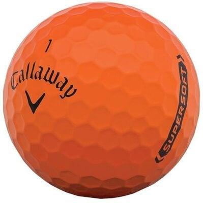 Callaway Supersoft Matte 21 Orange Golf Balls