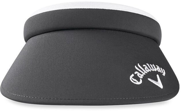 Callaway Clip Visor Charcoal/White