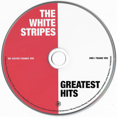 The White Stripes Greatest Hits Music CD
