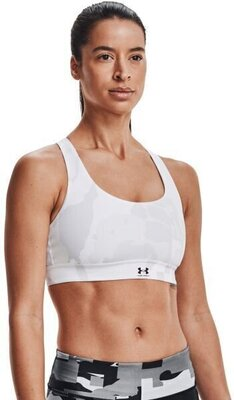 Under Armour Isochill Team Mid Womens Bra White/White 2XL