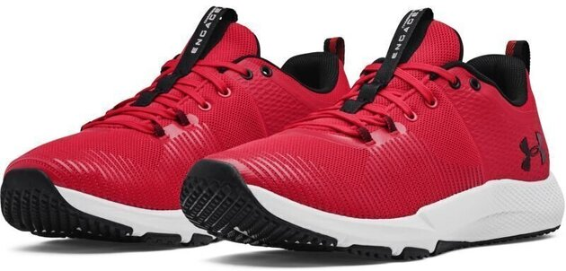 Under Armour Charged Engage Mens Shoes Red/Halo Gray/Black 10
