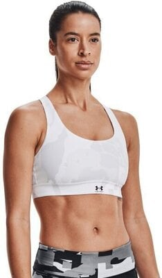 Under Armour Isochill Team Mid Womens Bra White/White M