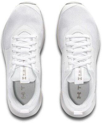 Under Armour Charged Aurora Womens Shoes White/White/Metallic Faded Gold 8