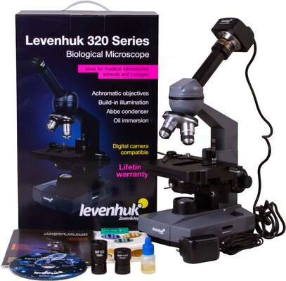 Levenhuk D320L PLUS 3.1M Digital Monocular Microscope