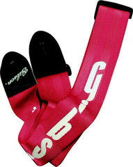 "Gibson Usa Style 2"" Safety Strap - Ferrari Red"