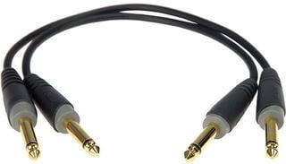 Klotz AB-JJ Patch Cable Mono Črna/Ravni - Ravni