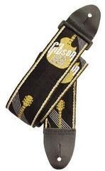 """Gibson 2"""" Woven Strap w/Gibson Logo-Gold"""