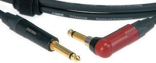 Klotz Titanium Instrument Cable Черeн/Директен - Ъглов