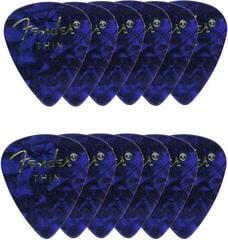 Fender Shape Premium Picks Blue Thin 12 Pack