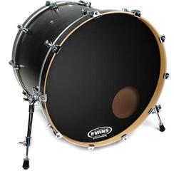 """Evans EQ3 Resonant 24"""" Black Resonant Drum Head"""