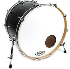 "Evans EQ3 Resonant Coated 24"" White Resonant Drum Head"