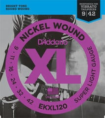 D'Addario EKXL 120 nickel wound, super light tremolo, 9-42