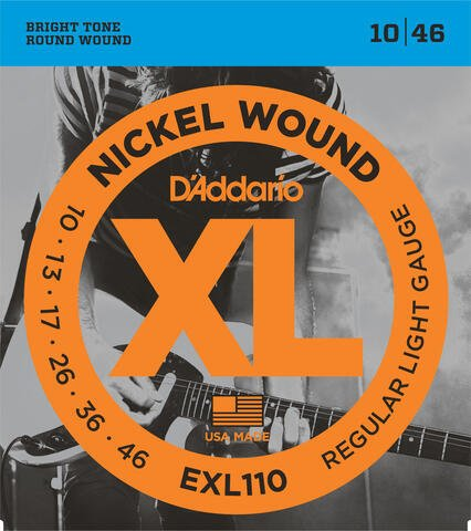 D'Addario EXL 110 Nickel Wound Regular Light