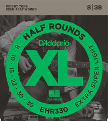 D'Addario EHR 330 XL half round, extra super light